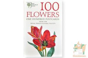 Набор из 100 почтовых открыток: Цветы
