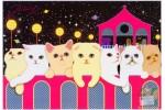 Почтовая открытка Jetoy Choo Choo Cats - 09