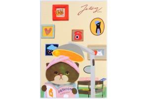Почтовая открытка Jetoy Choo Choo Cats - 26