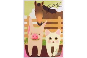 Почтовая открытка Jetoy Choo Choo Cats - 37