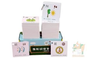 Мнестические цветные карточки с иероглифами для изучения китайского языка