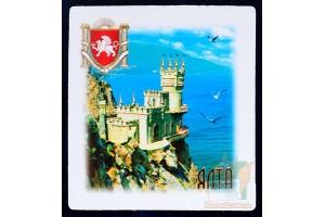 Магниты с видами Крыма: Ласточкино гнездо (квадратный)