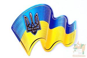 Магнит фигурный - флаг и герб Украины