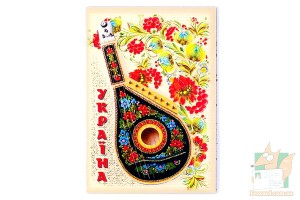 Магнит фигурный - музыкальные инструменты Украины
