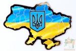 Магнит фигурный - карта Украины