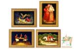 Почтовые марки: Федоскинская лаковая миниатюра