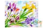 Почтовые марки самоклеющиеся: Флора России. Цветы. Ирисы.