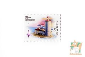 Почтовые марки: 300 лет маяку Толбухин