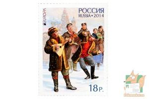 Почтовые марки: Музыкальные инструменты 2014г.