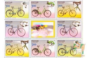 Почтовые марки: Велосипеды