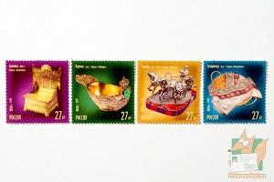Почтовые марки: Сокровища России. Ювелиры.