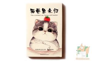 Набор из 30 открыток: Кошка с помидором