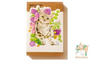 Набор из 30 фигурных открыток: Кошки в цветах