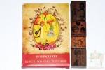 Набор из 32 открыток и 4 печатей - Девочка с котом.