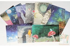Набор рисованных открыток от Dream Designer