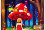 4 открытки: Почтовый гриб