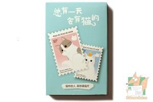 Набор из 30 фигурных открыток: Кошки на марках.