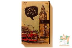 Набор из 30 крафт открыток: Достопримечательности