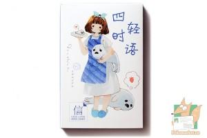Набор из 30 открыток: Девушка с морскими котиками