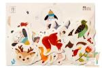 Набор из 45 открыток: Лесные звери