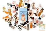 Набор из 45 наклеек: Кошачьи лапки