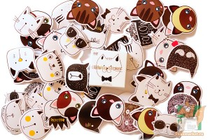 Набор из 45 наклеек: Коты
