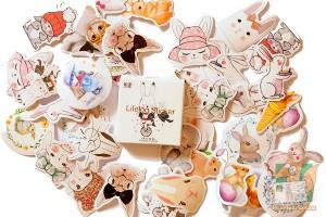 Набор из 45 наклеек: Кролики