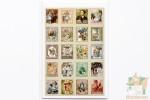 80 наклеек в виде марок: Алиса