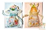 Наборы из 100 наклеек: Котики и кролики в мешочке.