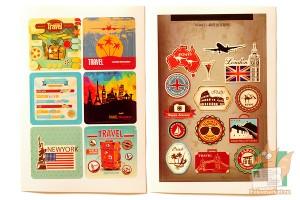 Набор наклеек из 8 листов: Путешествия