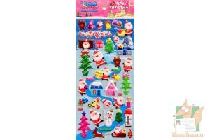 Набор дутых наклеек Merry Christmas WS-QA052