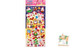 Набор дутых наклеек Merry Christmas WS-QA053