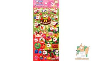 Набор дутых наклеек Merry Christmas WS-QA054