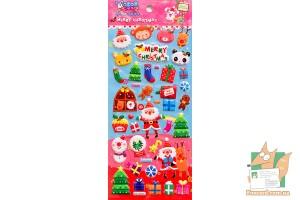 Набор дутых наклеек Merry Christmas WS-QA055