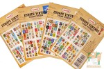 Наборы по 80 наклеек в виде марок: Европа винтаж