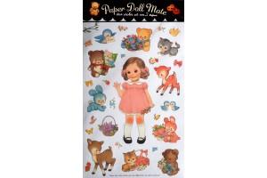 Набор наклеек: Винтажные куклы