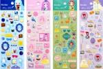 Наборы каплевидных наклеек: Девчачьи радости