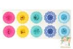 Набор наклеек: Разноцветные кружева