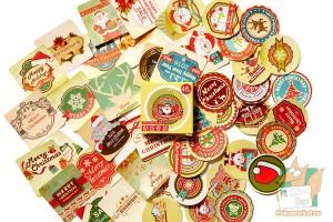 Набор из 46 наклеек: Рождественский клипарт