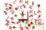 Набор из 50 новогодних наклеек: Олень