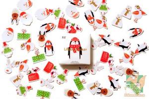 Набор из 50 новогодних наклеек: Пингвин