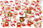 Набор из 48 наклеек: Весёлый Санта