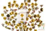 Набор из 50 наклеек: Дорожные знаки