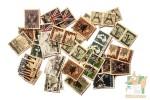 Набор наклеек и индекс стикеров в виде винтажных марок