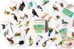 Набор из 40 наклеек: Птицы