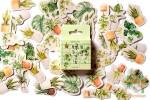 Набор из 45 фигурных наклеек: Комнатные растения