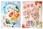 Набор из 45 фигурных наклеек: Бабочки и цветы