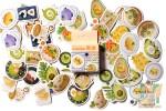 Набор из 46 наклеек: Блюда