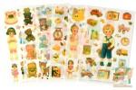 Набор наклеек из 6 листов: Бумажные куклы