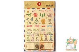 Набор наклеек из 6 листов: Винтажный набор для мейларта